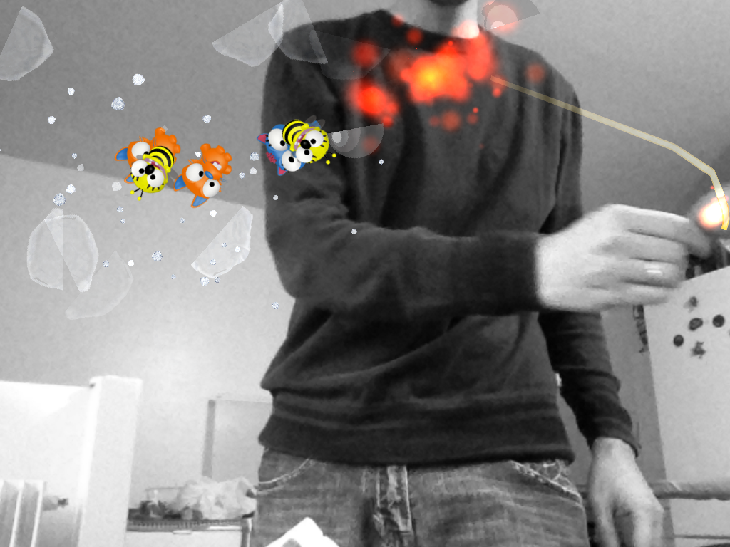 Working on the next project – object tracking and cocos2d, fruit ninja style game